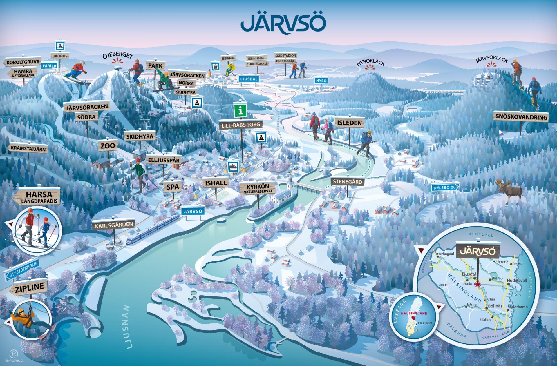 Järvsö Vinter karta